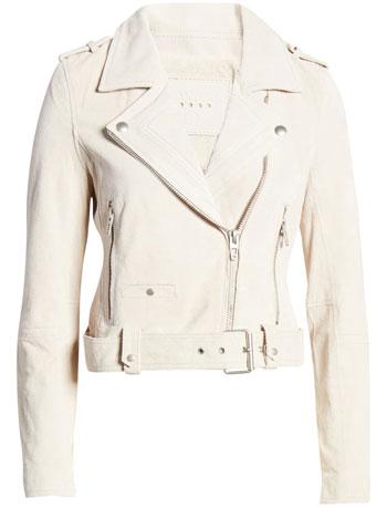 Blank NYC suede moto jacket | 40plusstyle.com