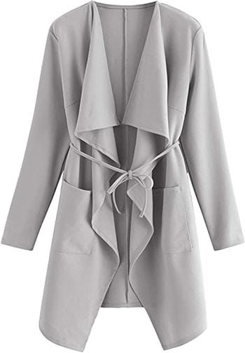 Romwe waterfall wrap coat   40plusstyle.com