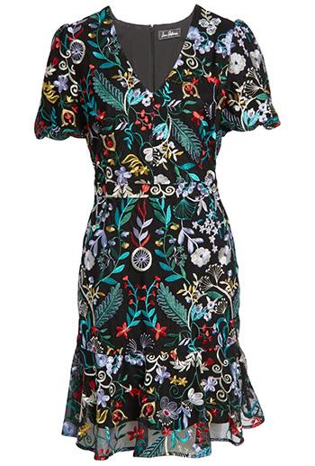 Sam Edelman embroidered puff sleeve dress   40plusstyle.com