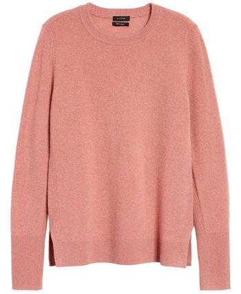 Halogen cashmere sweater | 40plusstyle.com