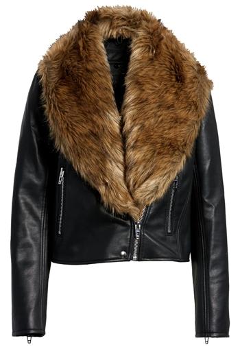 BLANKNYC moto jacket with faux fur trim | 40plusstyle.com