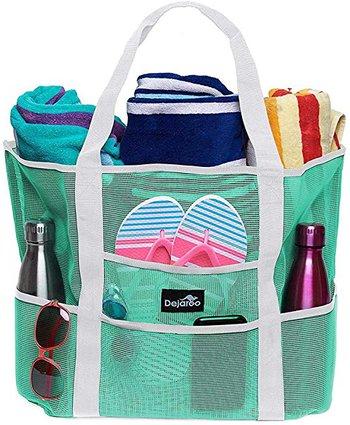 Best beach bags - Dejaroo Mesh Beach Bag | 40plusstyle.com