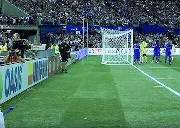 Beckham Taking Corner Kick