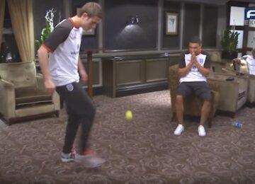Juggling a Tennis Ball