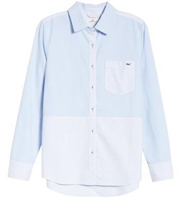 Vineyard Vines button-up shirt | 40plusstyle.com