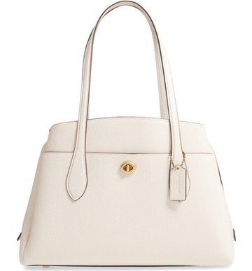 Coach pebbled leather tote | 40plusstyle.com