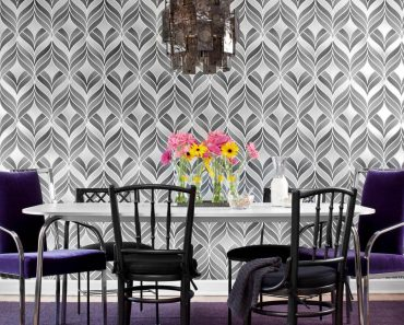 Ideas of Bold Print Wallpaper for Small Space