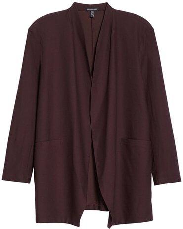 Eileen Fisher cutaway jacket | 40plusstyle.com