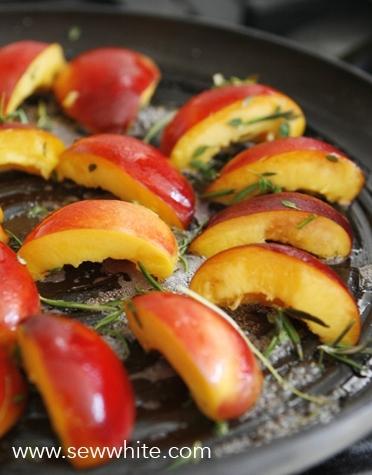 Sew White grilled nectarine chicken and parma ham summer salad 3
