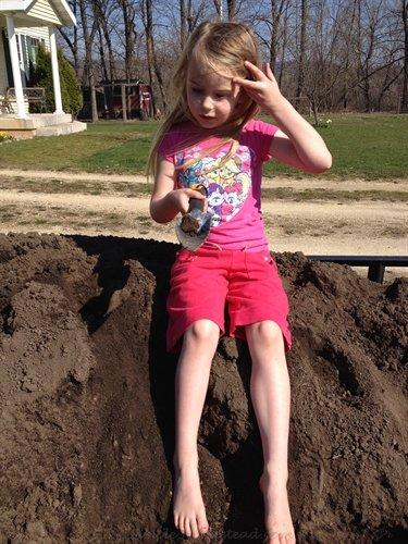 garden soil (and playground) | ASimpleHomestead.com