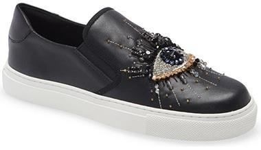 Best sneakers for plantar fasciitis - Kurt Geiger London Eye Slip-On Sneaker | 40plusstyle.com