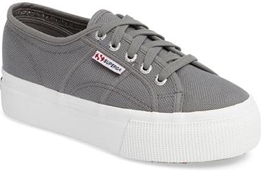 Superga platform sneaker   40plusstyle.com