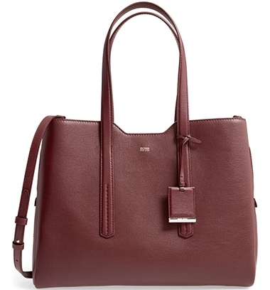 BOSS Taylor Leather Business Tote | 40plusstyle.com