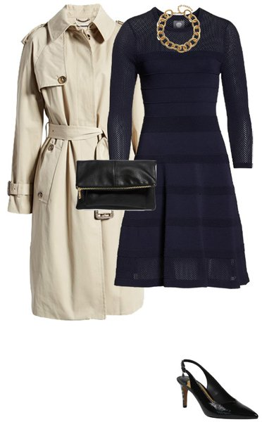 beige and navy make a classic outfit choice   40plusstyle.com