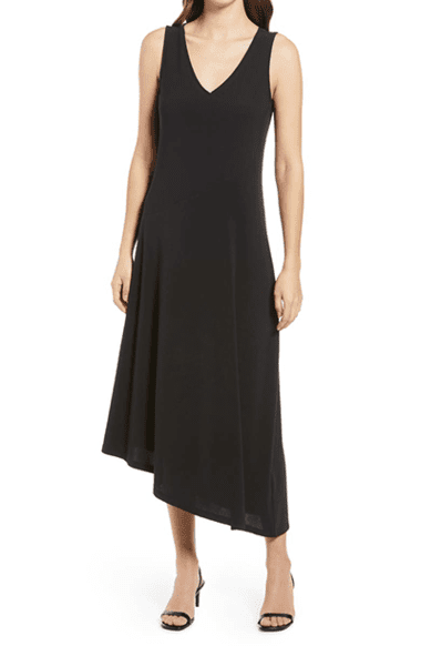 Nordstrom Asymmetrical Sleeveless Dress | 40plusstyle.com