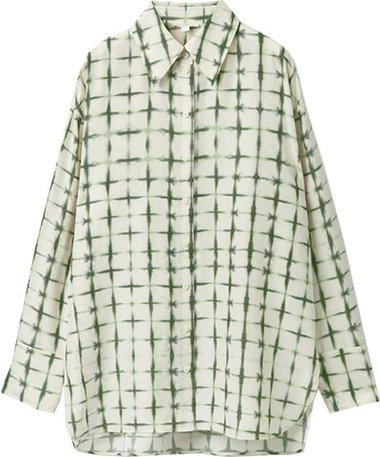 COS Blusa de seda estampada |  40plusstyle.com