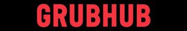 Grubhub logo red letters black background