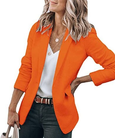 Cicy open front blazer | 40plusstyle.com