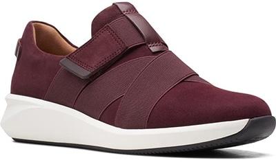 Best sneakers for plantar fasciitis - Clarks Un Rio Strap Wedge Sneaker | 40plusstyle.com