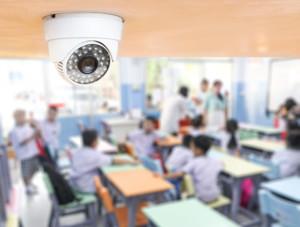 Security camera inside classroom