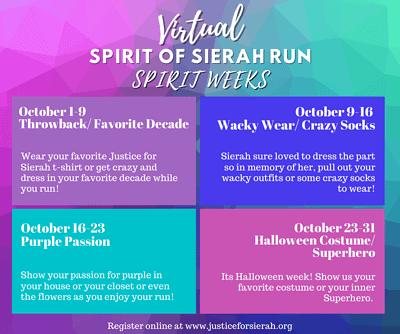 SOSR Spirit Weeks