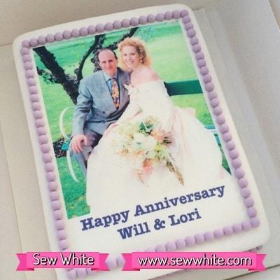 Sew White surprise wedding anniversary party 1
