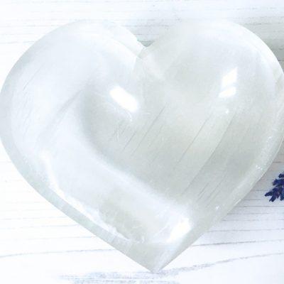 Spiral Crystals UK - Selenite Heart Bowl