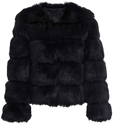 Simplee Women faux fur jacket   40plusstyle.com