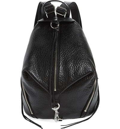 Rebecca Minkoff leather backpack   40plusstyle.com