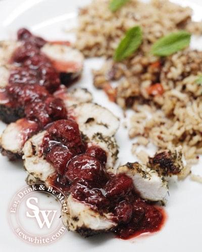 Sew White Strawberry and balsamic vinegar herb crust chicken 2