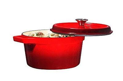 10. Bruntmor, Enameled Cast Iron Dutch Oven Casserole Dish