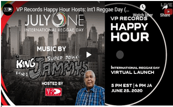 VP Records Happy Hour Hosts Int'l Reggae Day (IRD) Virtual Launch