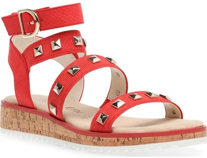 Plantar fasciitis shoes for women - Anne Klein Malina Embellished Strappy Sandal | 40plusstyle.com