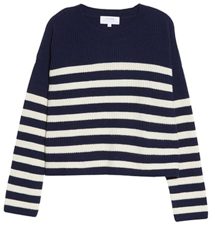 La Ligne stripe cashmere sweater | 40plusstyle.com