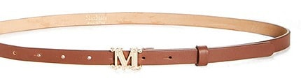 Max Mara monogram leather belt   40plusstyle.com