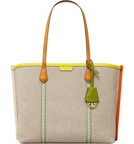 Tory Burch Perry canvas tote | 40plusstyle.com