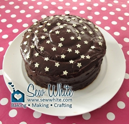 chocolate cake with white chocolate starts as a perfect surprise centre cake with a hidden chess board pattern inside