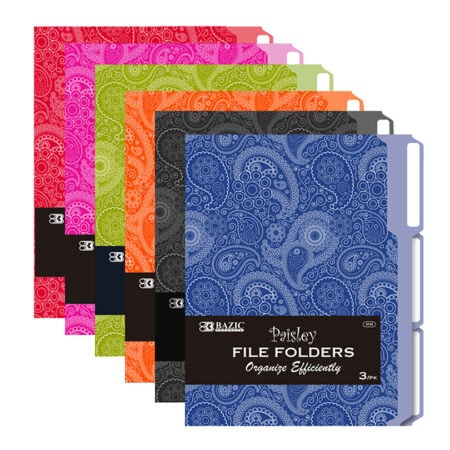 Cheap 1/3 Cut Letter Size File Folders