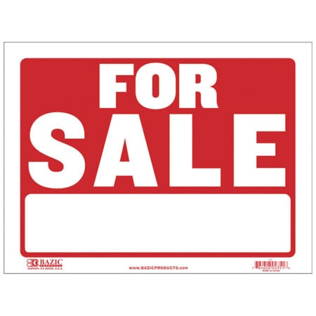 Cheap for sale signs