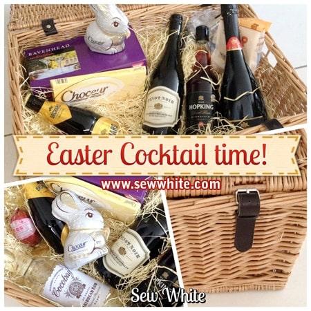 Sew White aldi cocktail drinks Easter hamper 1