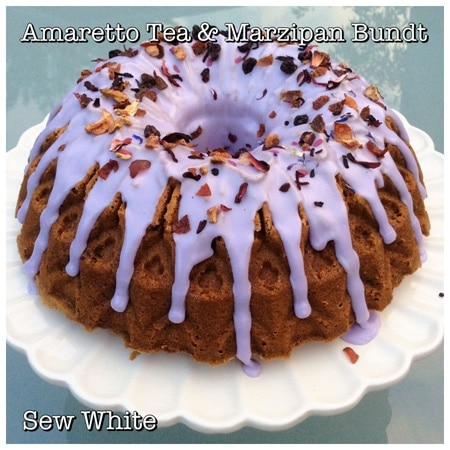 Sew White Amaretto tea and marzipan bundt recipe uk 1