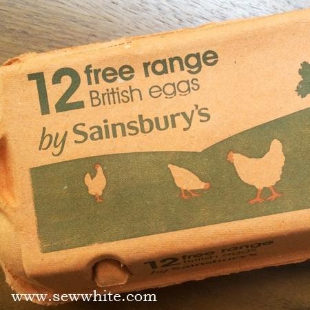 Sew White Sainsbury's free range eggs 1 omelette recipe
