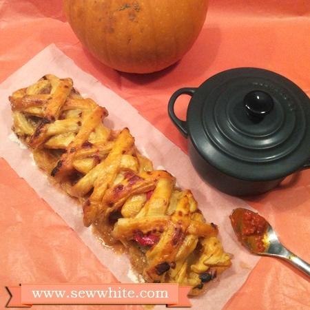 puff pastry halloween bake