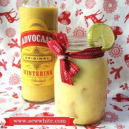 Sew White Christmas cocktails Aldi Advocaat 2