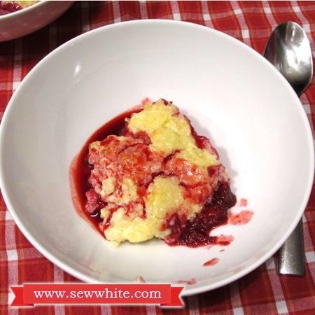 Sew White Christmas jam rice pudding 3