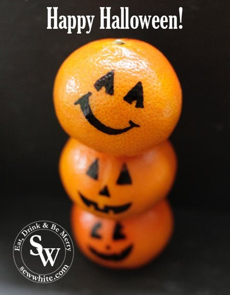 Halloween oranges pumpkins as Healthy Halloween Snacks