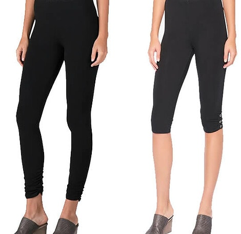 wear leggings to tuck in your tummy | 40plusstyle.com