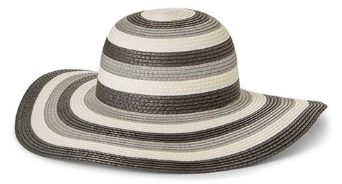 Nordstrom Packable Stripe Paper Straw Floppy Hat | 40plusstyle.com