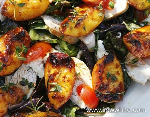 hot fruit summer salad