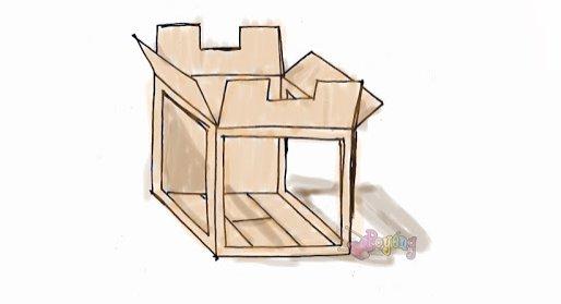 cara membuat mini studio dari kardus